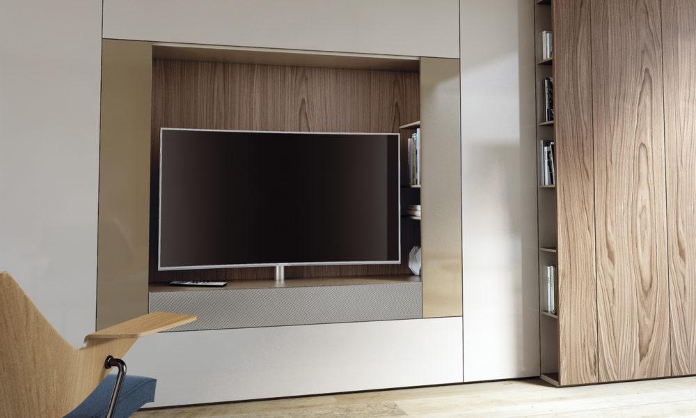 Tv meubel op maat de graaf bv for Inbouwkast op maat
