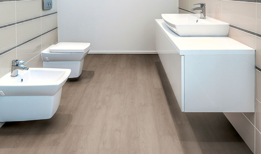 De graaf bv eenvoudig de badkamer opknappen met een pvc vloer de graaf bv - Badkamer houten vloer ...